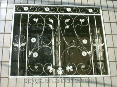 Modern style modern iron window grill design view modern for Modern zen window grills design