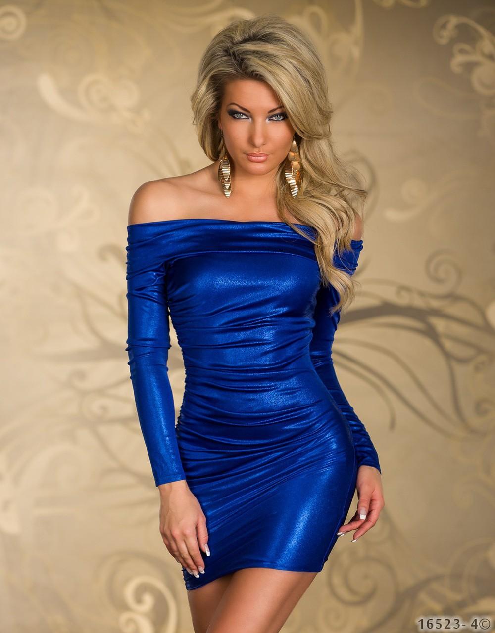 Sexy blue club dress