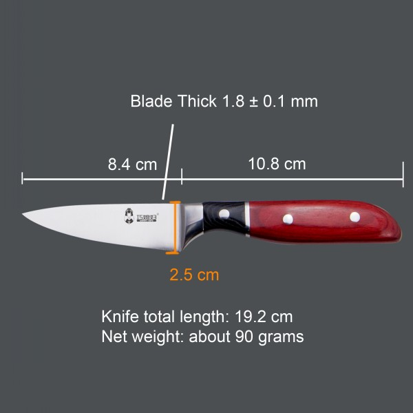 The Edge Fine & Sharp Kitchen Knife For Paring Knife