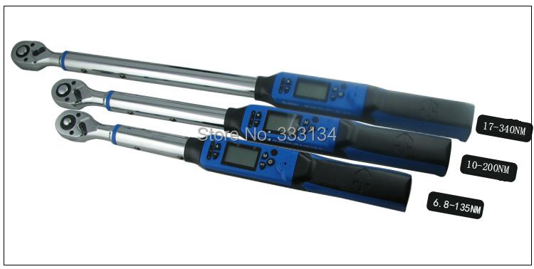 Купить Тайвань производство цифровой крутящий момент wrench17-340NM 1 / 2 Ratchet динамометрический ключ гаечный ключ электроника трещотка 1/2 дюймовый привод