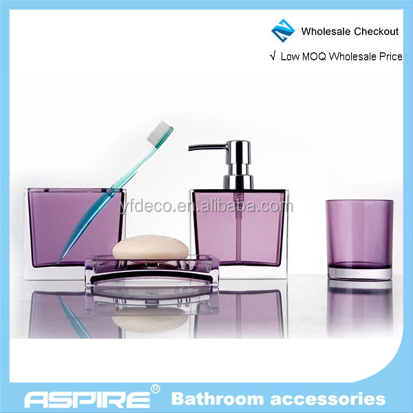 Wholesale ac0026a 4 angel and panda bathroom accessories for Bathroom accessories acrylic