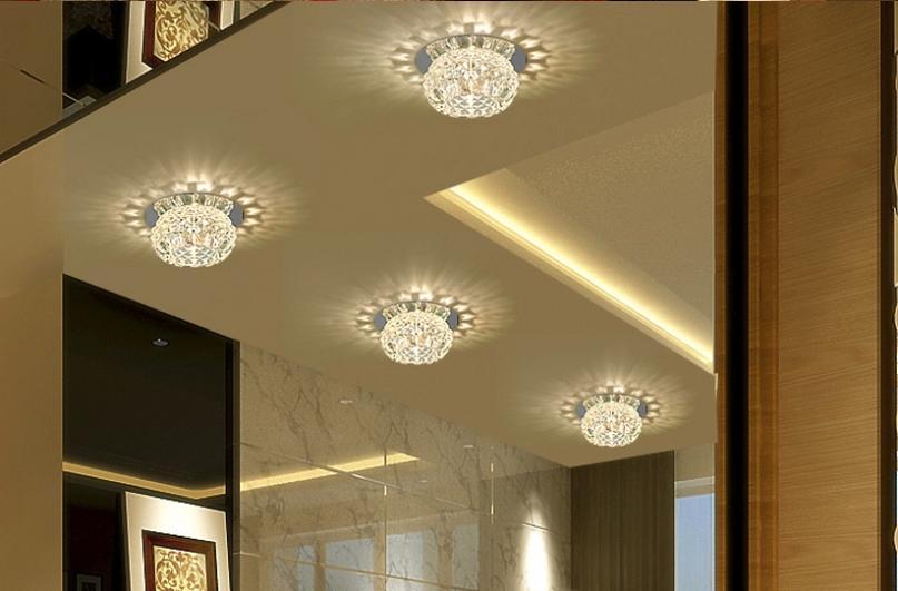 Woonkamer verlichting romantische luster : 3w moderne led spot lampen ...