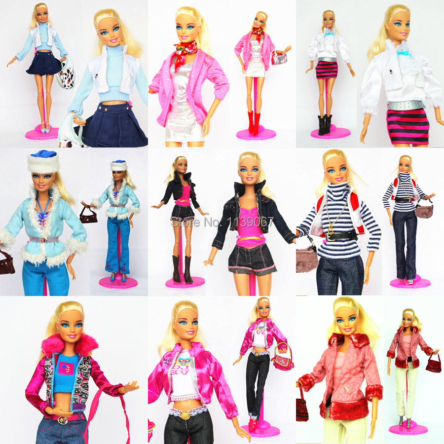 10 units Handmade Noble Candy Doll Outfit Swimsuit Clothes Trend Tops Coat Boots Bag Costume Equipment For 1/6 Barbie Kurhn Doll