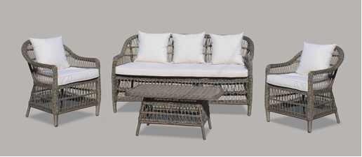 stunning sof rattan sinttico con mueble de jardn with sofas exterior baratos - Muebles De Jardn Baratos