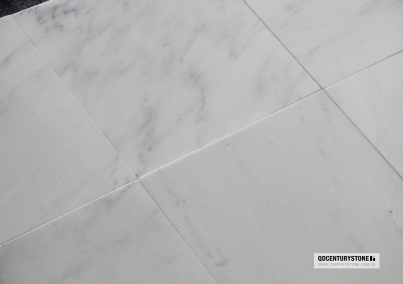 First Class Natural Statuary Polished 12x12 White Marble Flooring