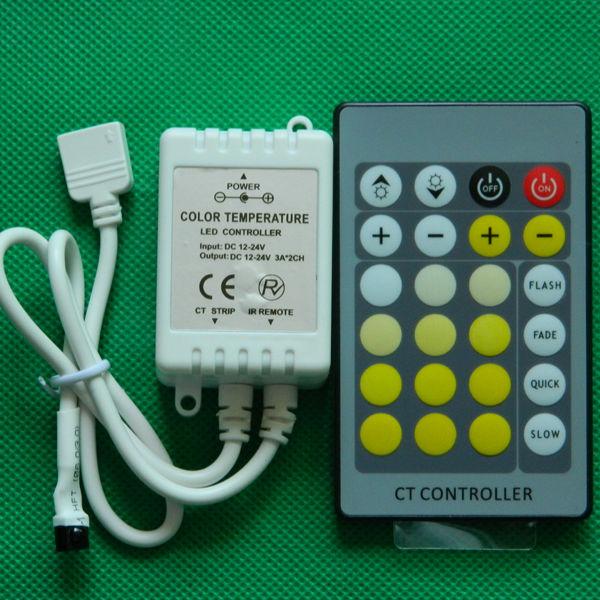 IR 24keys color temperature adjustable led controller 2 channel led controller manufacture