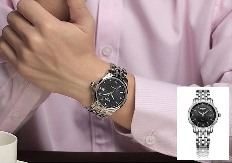 Бингер Новый Дизайн Наручные Часы Марка Окраска Выдалбливают Автоматические Механические Часы Мужчины Скелет Плавание Часы 50 М Водонепроницаемый
