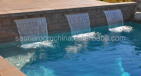 Swimming pool spa nozzle water curtain ornaments garden decorative indoor water wall fountains for Swimming pool fountain nozzles
