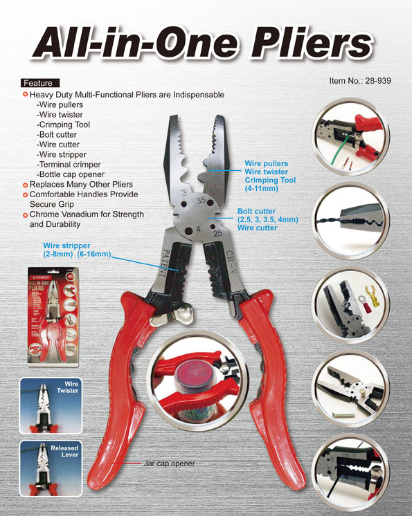 All-in-One Multi Function Pliers