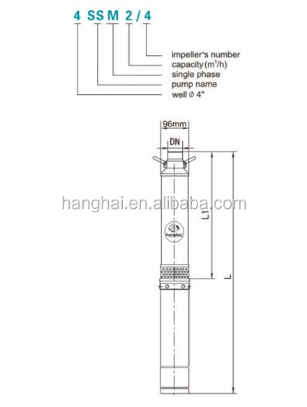 SS centrifugal submersible pump 4SS2,4SS4,4SS6,4SS8,4SS10
