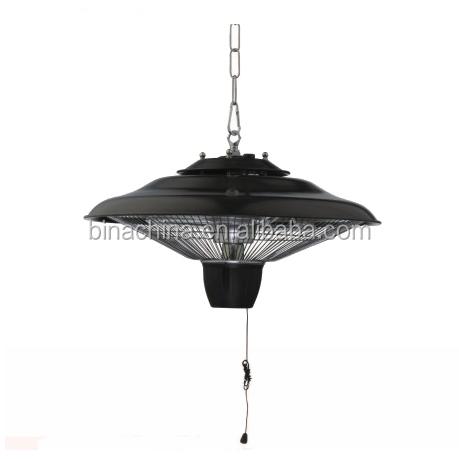 Plafonnier carr parasol chauffant lectrique halog ne chauffe terrasse rad - Parasol electrique exterieur ...