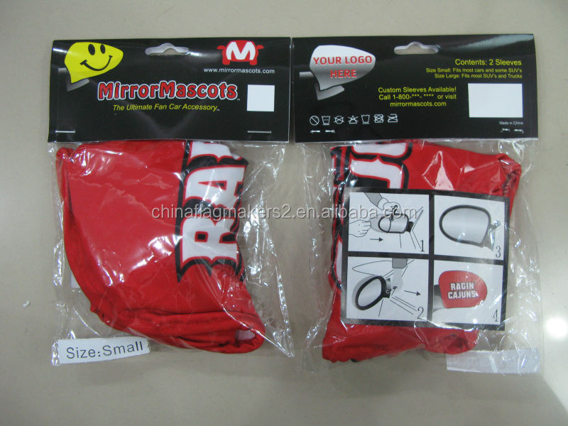 wholesale fabric side mirror covers, car side mirror cover flag