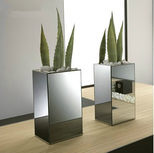 spiegel glazen vaas voor de woonkamer decoratie-glas en kristallen ...