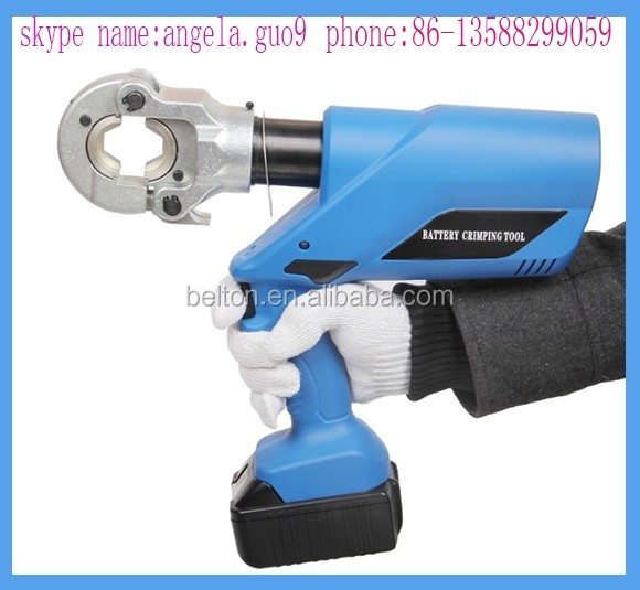 hc 300 cordless hydraulic crimping tool used plumbing tools portable hose press crimping machine. Black Bedroom Furniture Sets. Home Design Ideas