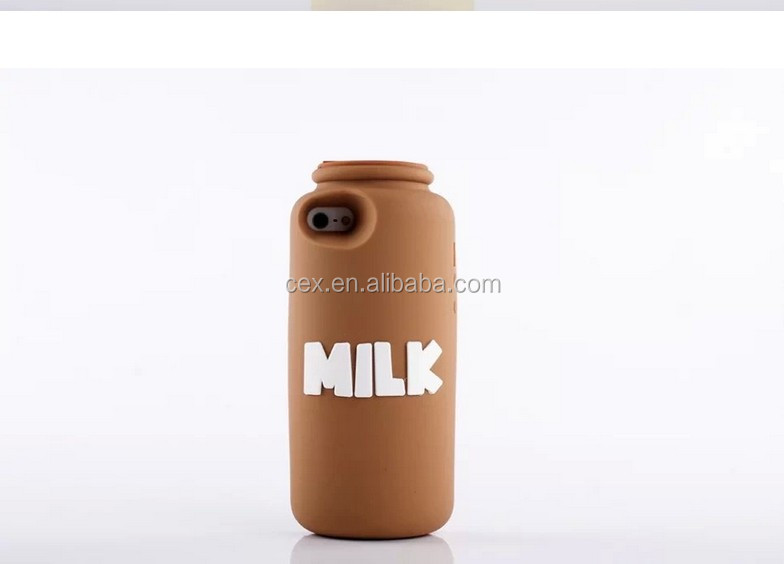 Cute milk bottle Soft TPU back cover case for apple iphone 5 5S