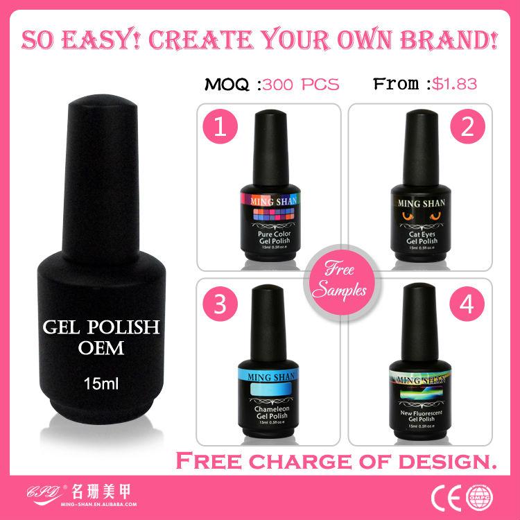 China Oem 15ml Black Private Label Color Gel Nail Polish Glass ...