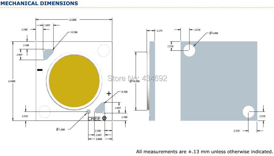 15-XlampCXA2011 MECHNICAL DIMENSIONS