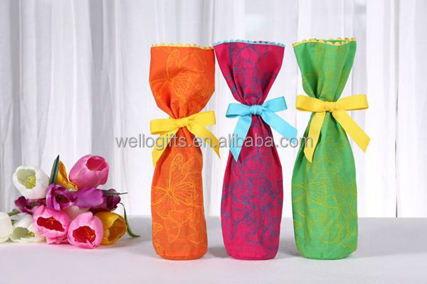 Pink Square Wine Paper Gift Bag