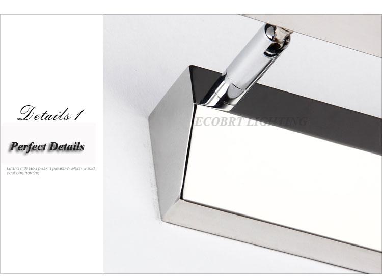 Crystal Bathroom Light Fixtures Stainless Steel Led Bath: Modern Stainless Steel LED Bathroom Mirror Light 5540