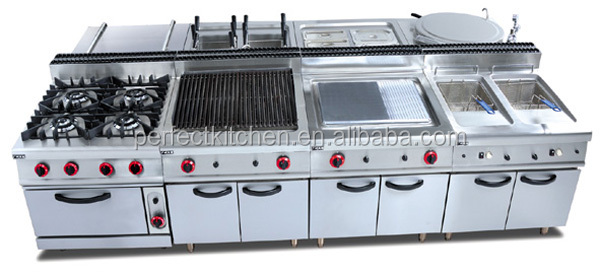 Free standing gas range with 4 burner electric oven gas for Perfect kitchen equipment