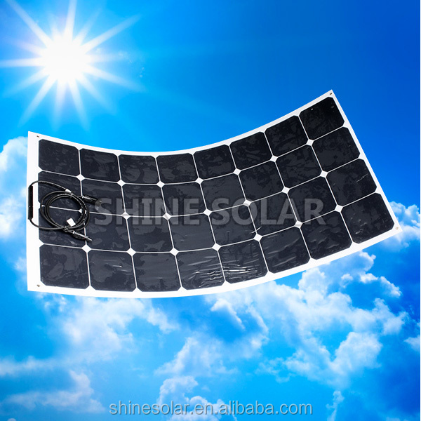 Flat sunpower flexible thin film 12V 50W for boats