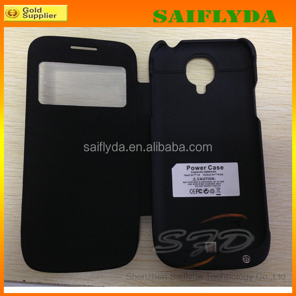 high capacity 3000mah external power case for samsung galaxy s4 mini ,backup battery case