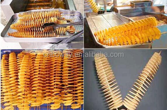 Stainless Steel Manual Potato Vegetable Fruit Spiral Slicer