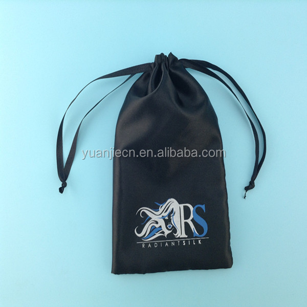 High Quality Custom Satin hair Bags with printed logo