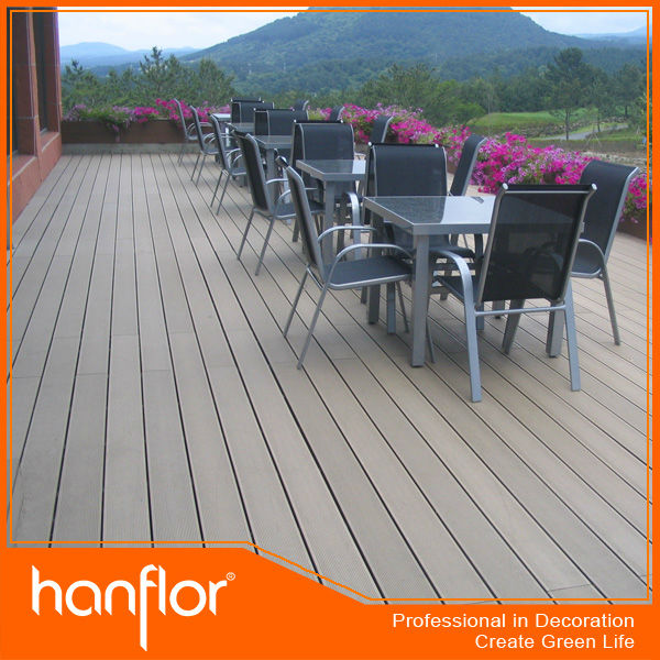 Reciclado material impermeable piso decking del WPC
