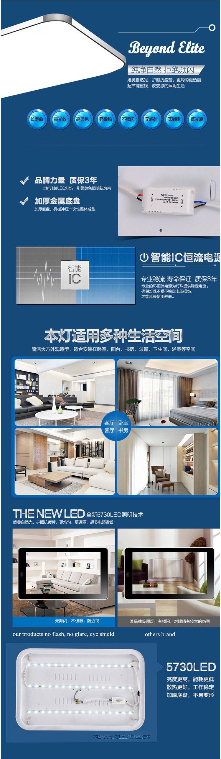 Современные светодиодные потолочные свет для гостиной роскоши привели потолка света 300 * 300 12w apple стиль лампа