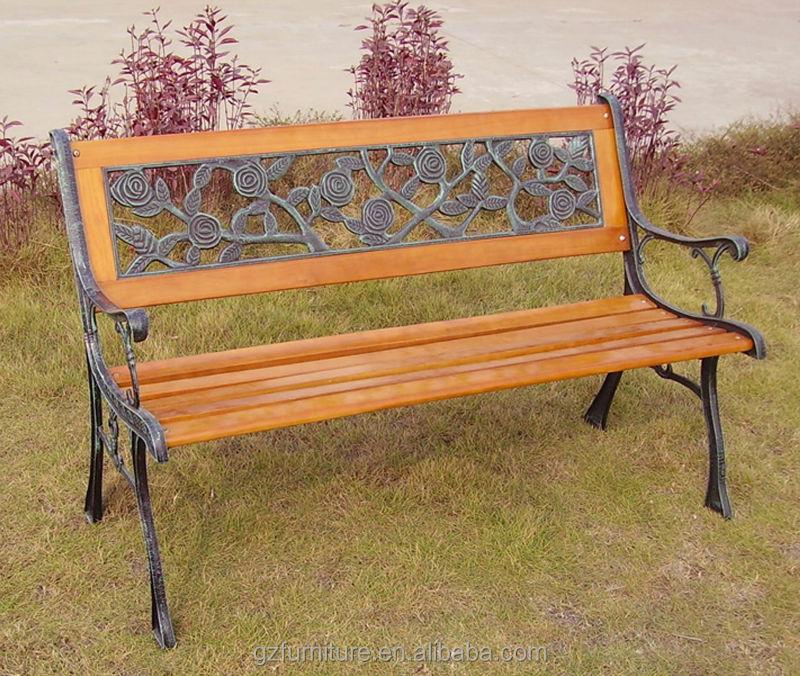 Garden Bench Park Bench Cast Iron Frame And Hardwood