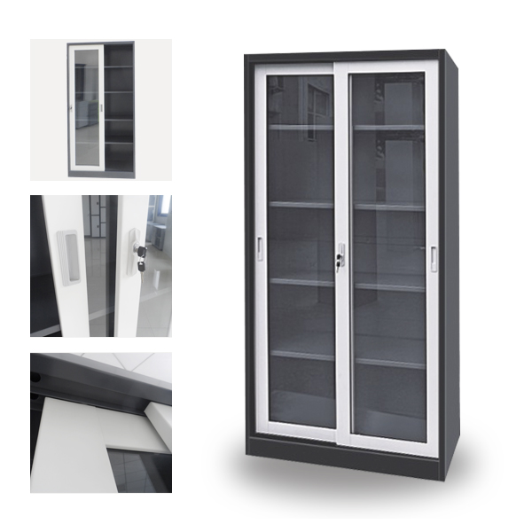 Metal File Cabinet With Sliding Glass Door Filing Supply Of