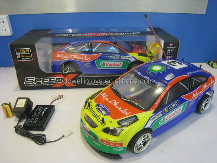 1/10 scale 4WD rc racing car, PVC car shell with DIY logo, radio control rc car toys