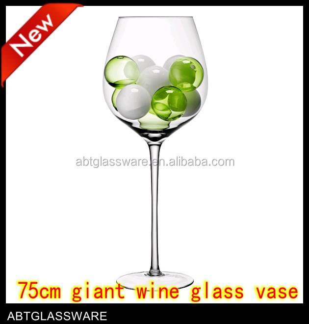 Giant Wine Glass Vase Wholesalewine Shaped Glass Vases Buy Giant