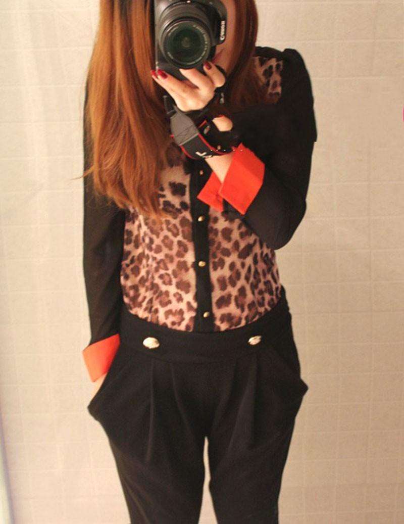Блузка С Леопардовым Принтом С Доставкой