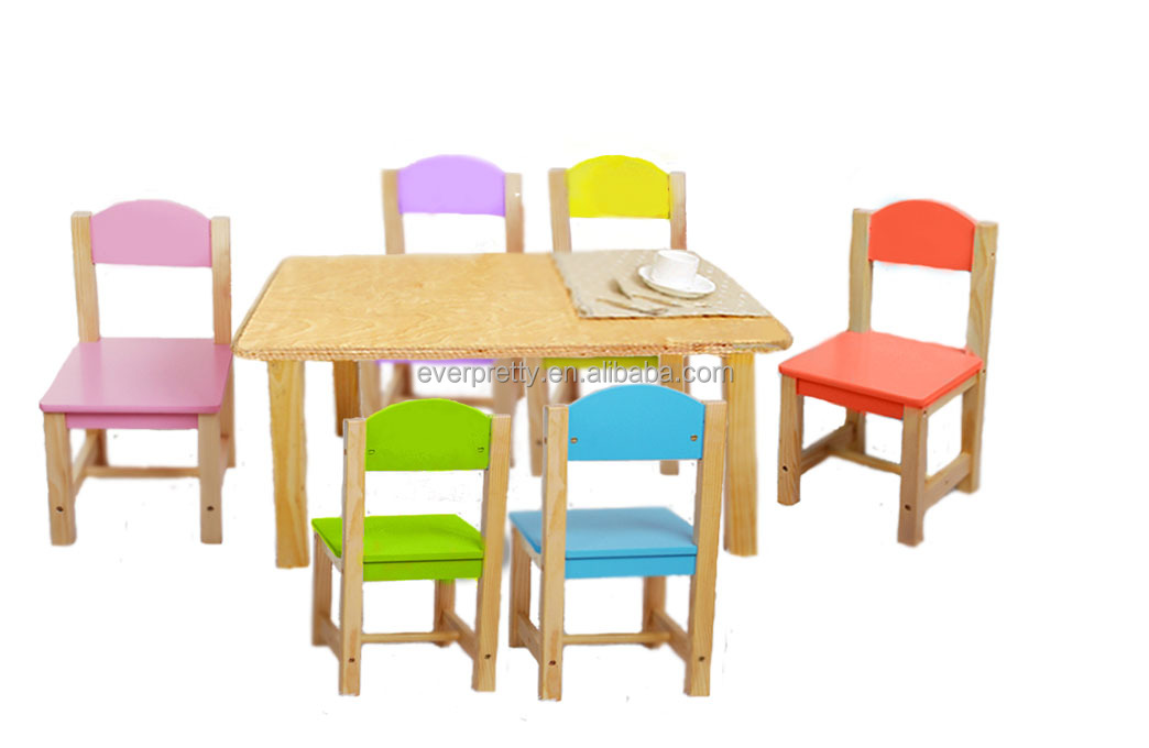 Wood Mini Table And ChairSolid Kids Chairs