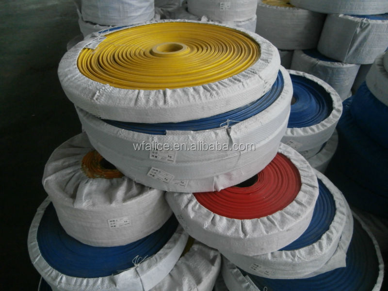 yellow and blue color PVC agriculture Lay flat water supply hose pipe
