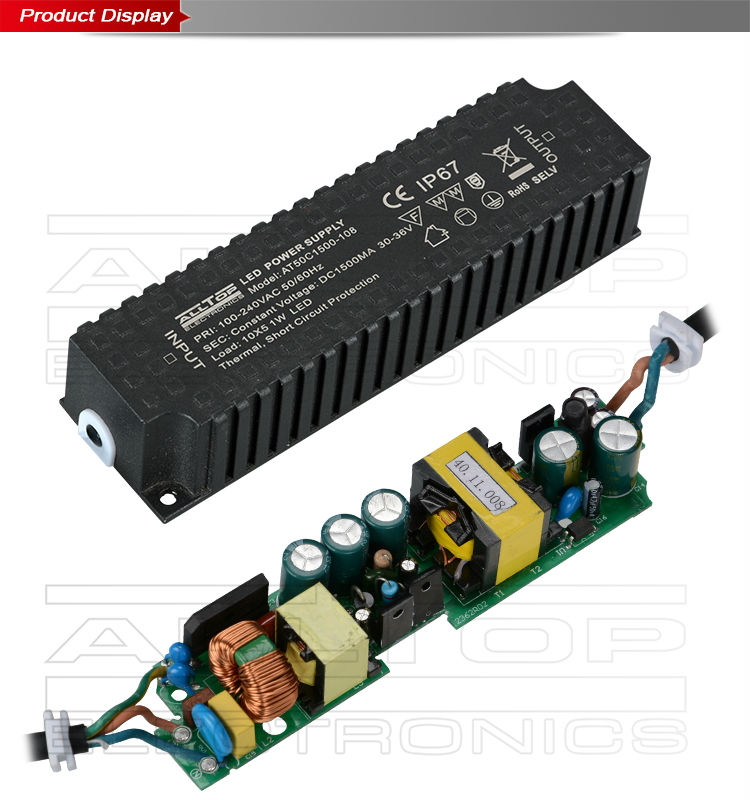 Constant current ip67 waterproof 70w led driver