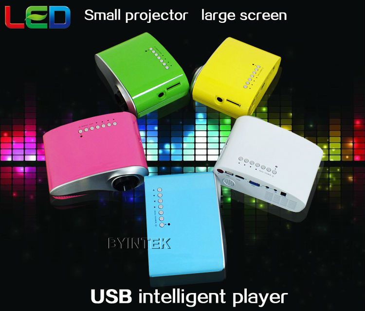 Portable led lcd hdmi vga usb tv dvd vga video hd 1080p for Best mini projector for powerpoint presentations