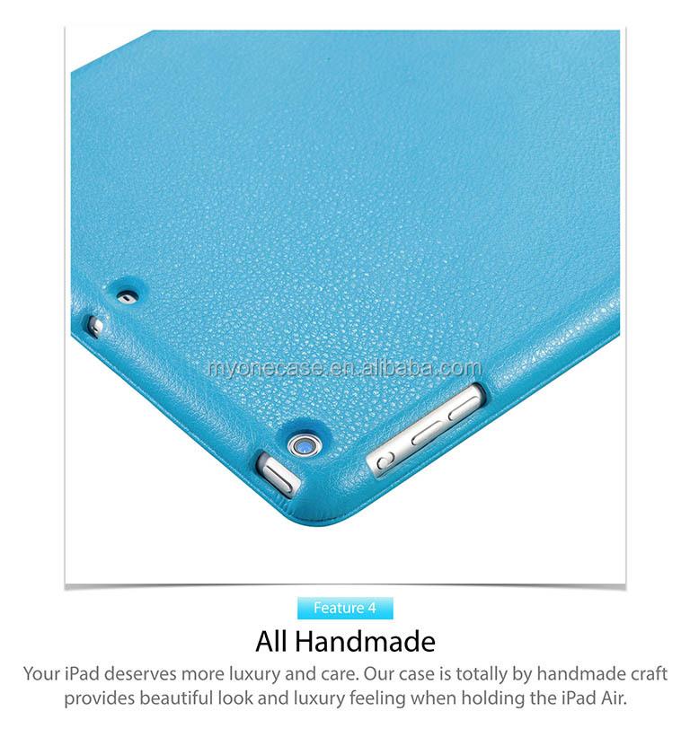 Premium quality leatherette for iPad Air portfolio case