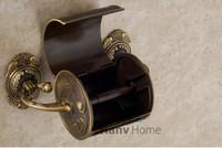 torneira водоворот Латунь туалетной бумаги держатель уникальные творческие искусства резной Золотой антикварные ткани рулон box, dhl