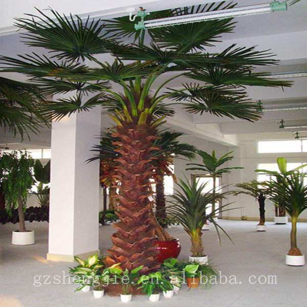 Arbol artificial decoracion cm hojas de plstico cycas for Palmeras decorativas exterior
