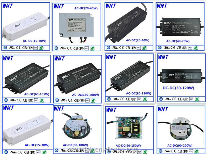 CE & UL certification 120V Constant current waterproof IP67 150W led driver led power supply