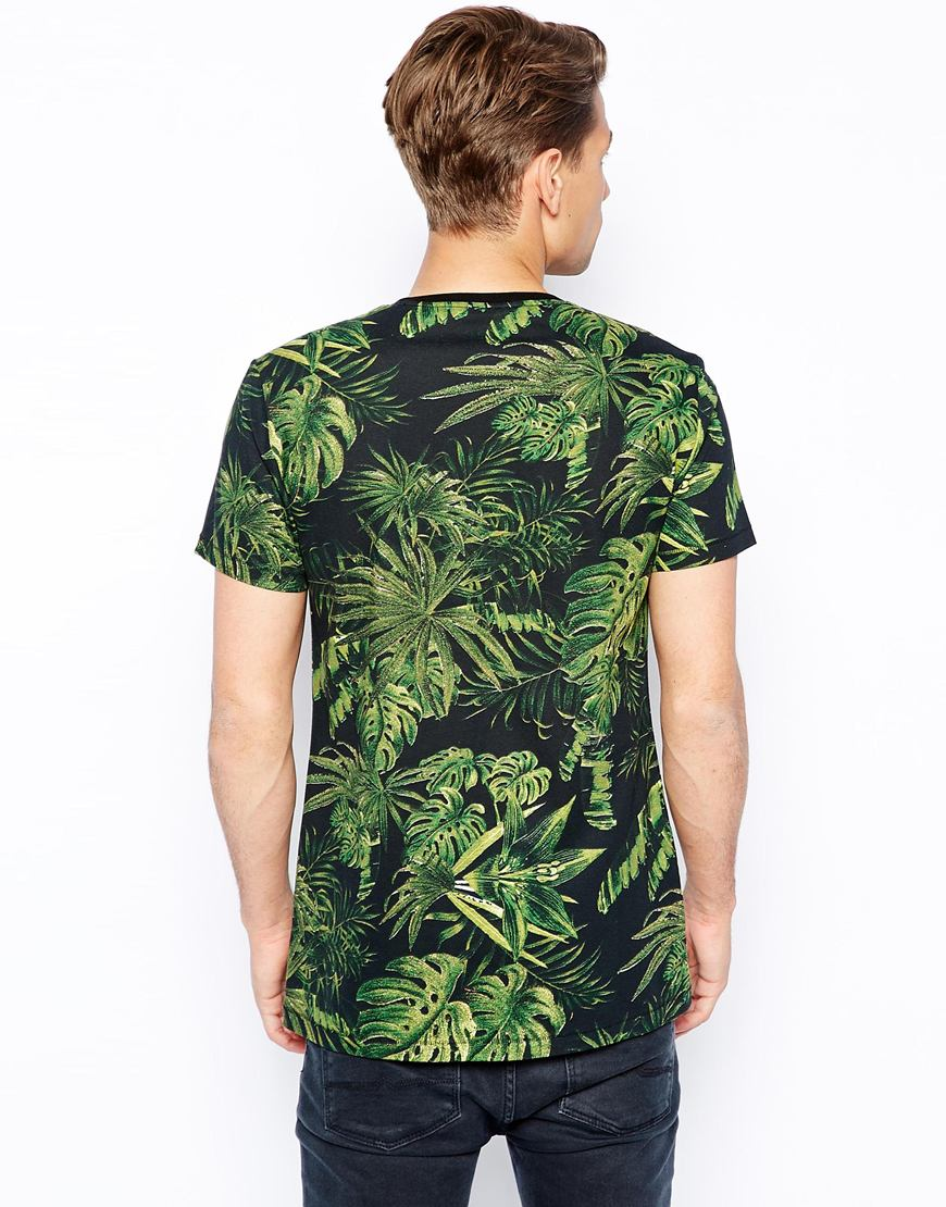 T shirt with leaf print printed custom designs tshirt high for Custom printed dress shirts