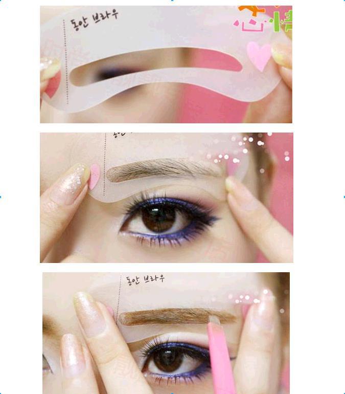 Eyebrow Stencil Eye Brow Template Shape Plastic Makeup Buy Pretend