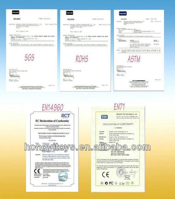 cetificate SGS RoHS EN14960 CE ASTM