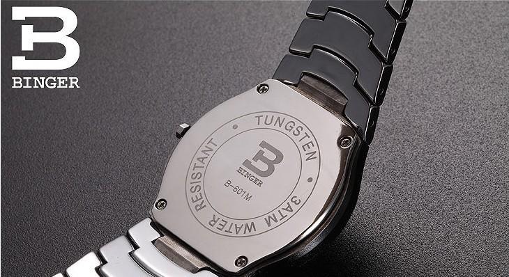 2016 Переедания пространство вольфрама стали часы черный стол мужчина часы из нержавеющей стали мужская 200 м водонепроницаемый гладкой Платиновые наручные часы