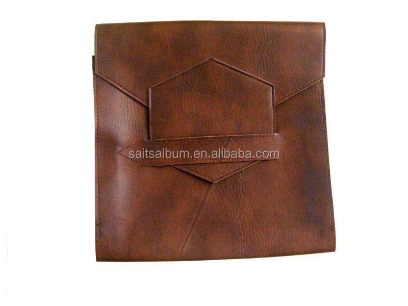 Brown PU photo book bags