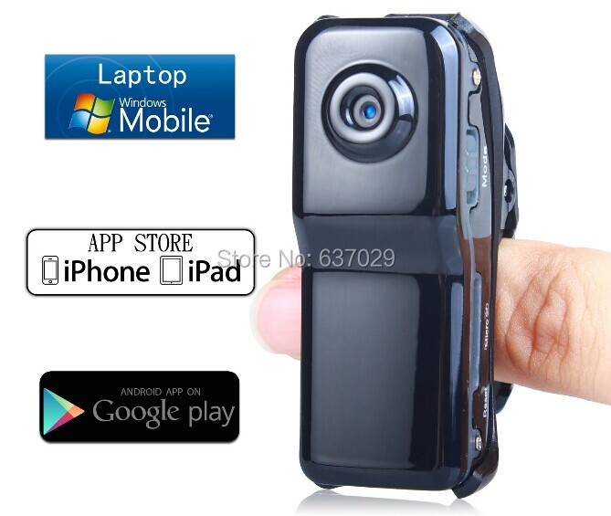 Durable Black MD81S Professional High Definition Wireless P2P Pocket-Size Mini IP DV//WiFi Camera//Camcorder for iPhone//Android