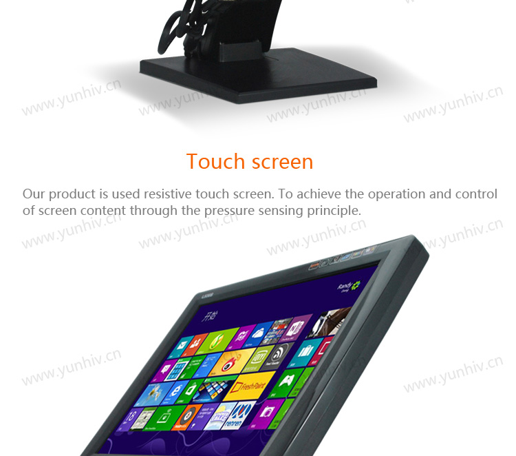 """15"""" touch screen monitor/LCD monitor/touch screen computer monitor for POS"""